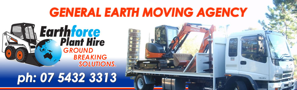 Earthforce Earth moving agency - Sunshine Coast Earthmoving services